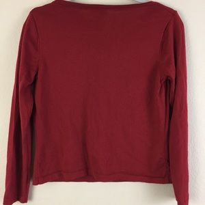 Talbots Sweaters - Talbots Petites Red 100% Merino Wool Sweater